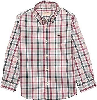neck & neck Camisa de niño de Cuadros Verdes y Burdeos con ...