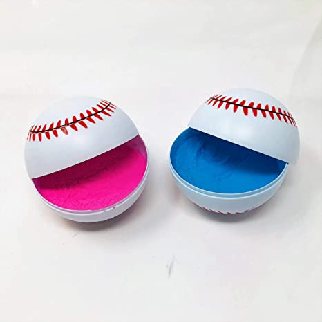 Amazon.com  2 Gender Reveal Baseballs Pink   Blue  Kitchen   Dining bb302e733