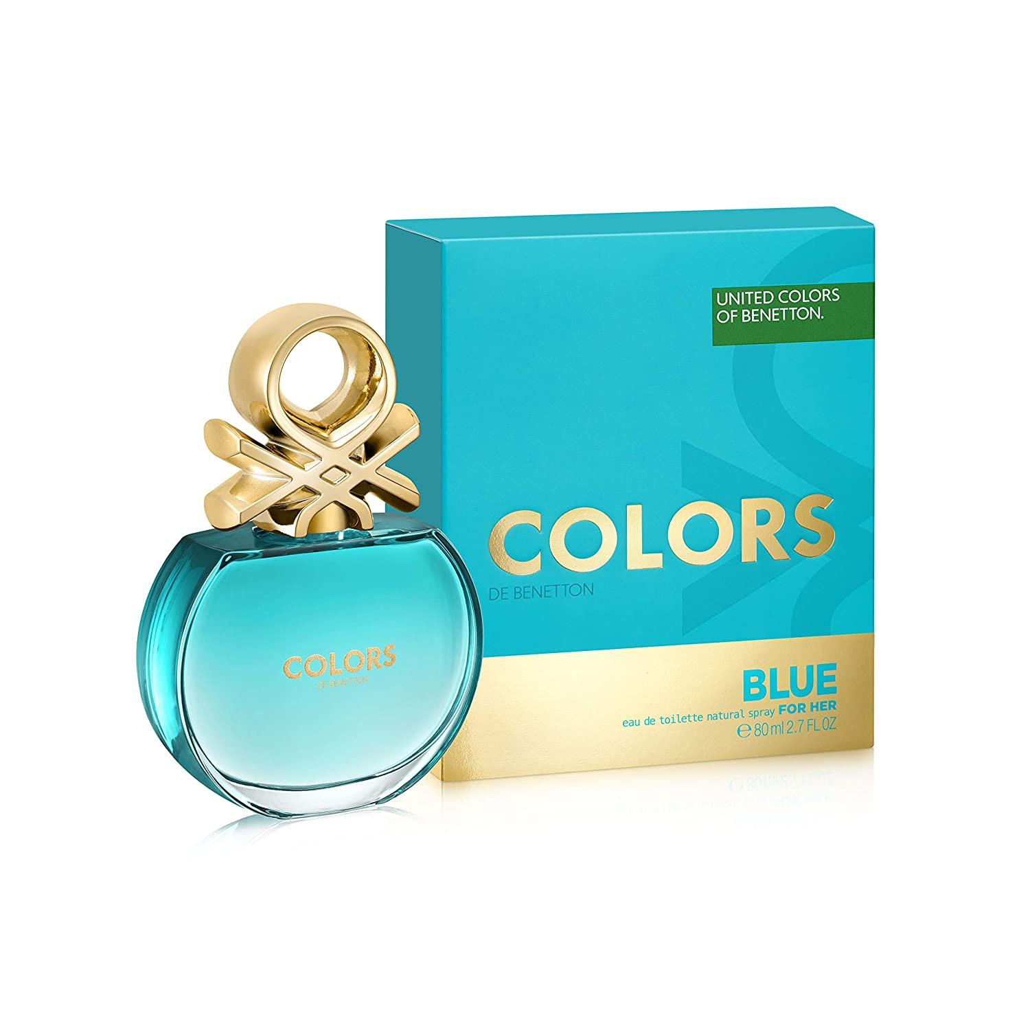 Benetton Colors de Benetton Blue Eau de Toilette 80ml Spray: Amazon.es: Belleza
