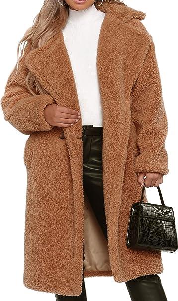 Amazon.com: Abrigo de mujer casual con parte frontal abierta ...