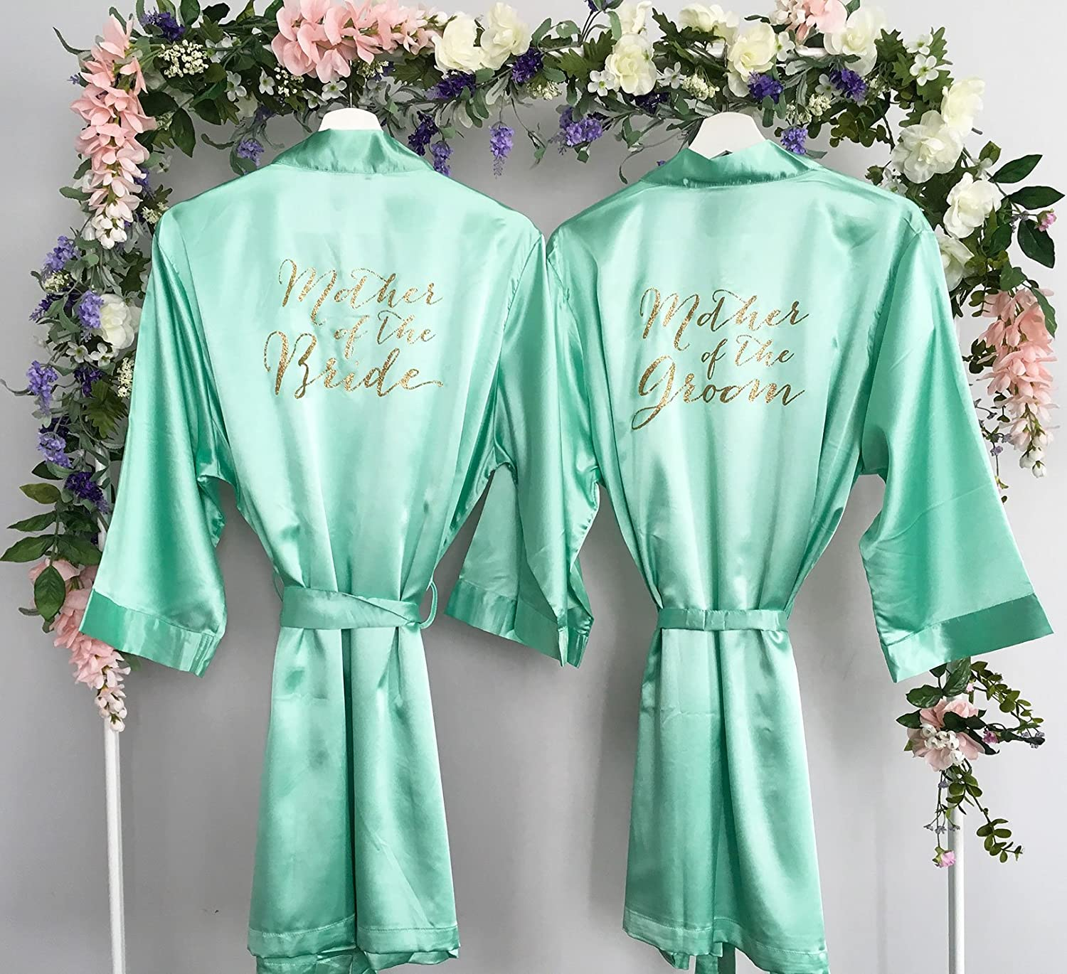 Mother of the Bride Robe, Mother of the Groom Robe, Set of 2 Satin Robes, Mother of the Bride Gift, Mother of the Groom Gift, MANY COLORS