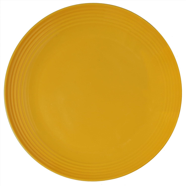 Melange 6-Piece Melamine Salad Plate Set (Solids Collection ) | Shatter-Proof and Chip-Resistant Melamine Salad Plates | Color: Multicolor Ruby Compass Melamine 612409791122