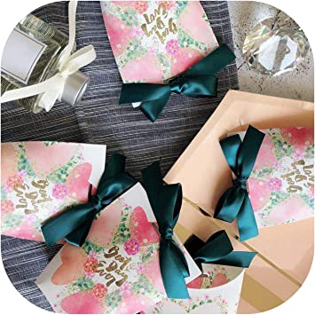 5PCS//Lot Party Supplies Candy Box Gift Case Baby Shower Ribbon Wedding Favors