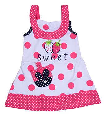 c7f263f415 Little Prince Baby Girls' Frock (1-2 Years, Pink): Amazon.in: Clothing &  Accessories