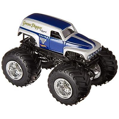 Hot Wheels MONSTER JAM 1:64 SCALE DARK BLUE/SILVER GRAVE DIGGER THE LEGEND 10/19 TOUR FAVORITES: Toys & Games