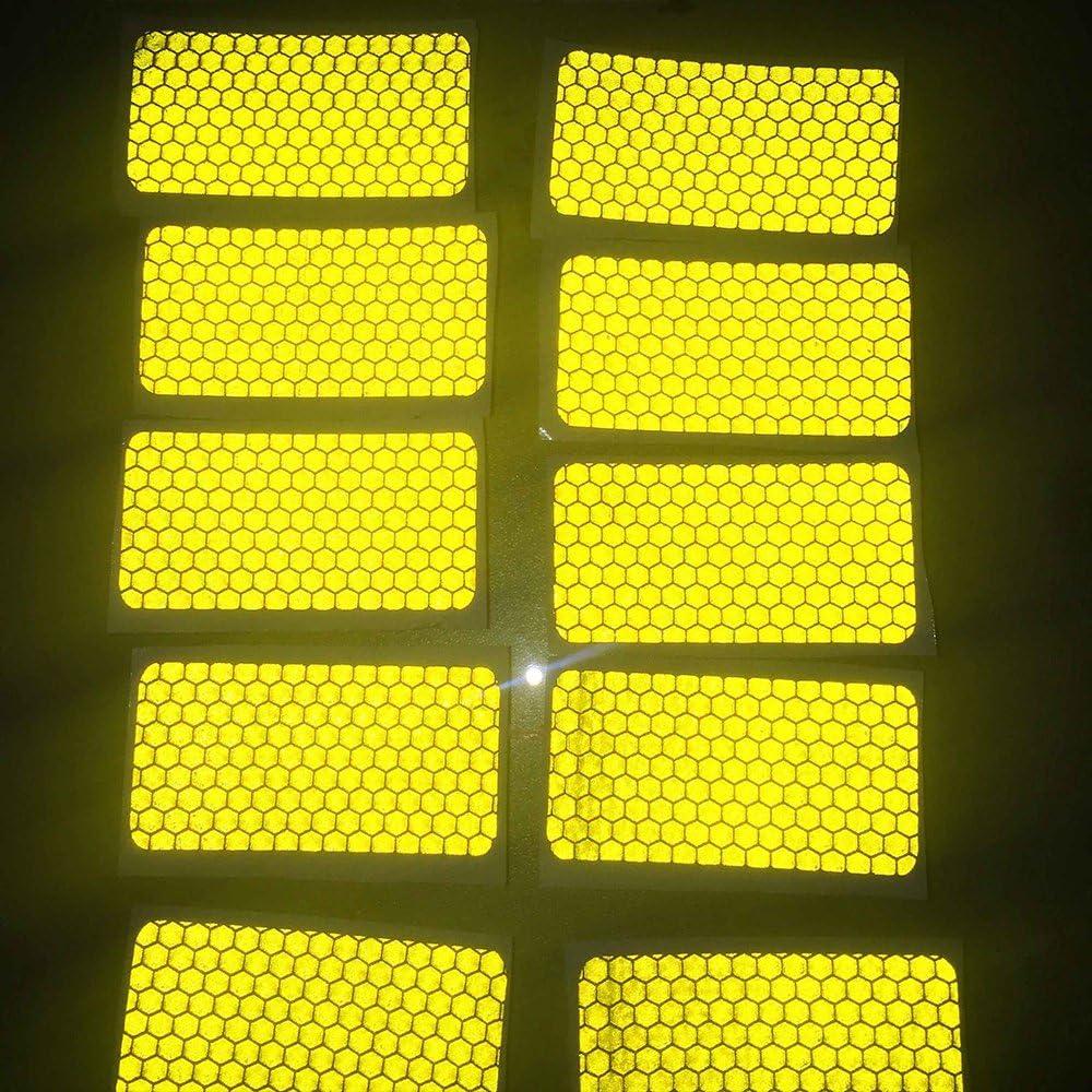 Cobear 20x Hoch Intensives Reflektoren Aufkleber Selbstklebend f/ür LKW Auto Motorrad Boot Fahrrad Anh/änger Helm Taschen Sicherheit Warnklebeband Sicherheit Markierung Band Rechteckige Form Blau