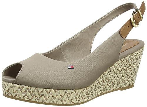 Tommy Hilfiger E1285LBA 17D, Sandalias para Mujer, Fungi, 39 EU: Amazon.es: Zapatos y complementos