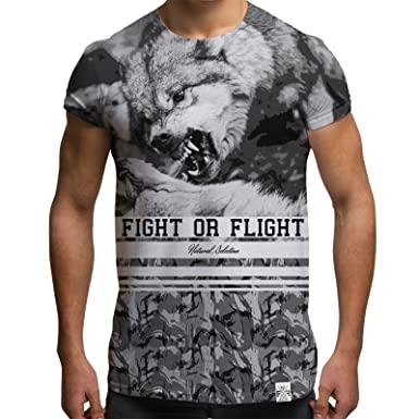 2add6278e All Over Print Sublimation T Shirt Graphic Tees Men Wolf T-Shirt:  Amazon.co.uk: Clothing