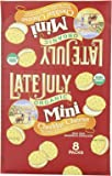 Late July Organic Mini Cheddar Cheese Bite Size Sandwich Crackers, 1.125-Ounce Pouches in 8-Count Boxes (Pack of 4)