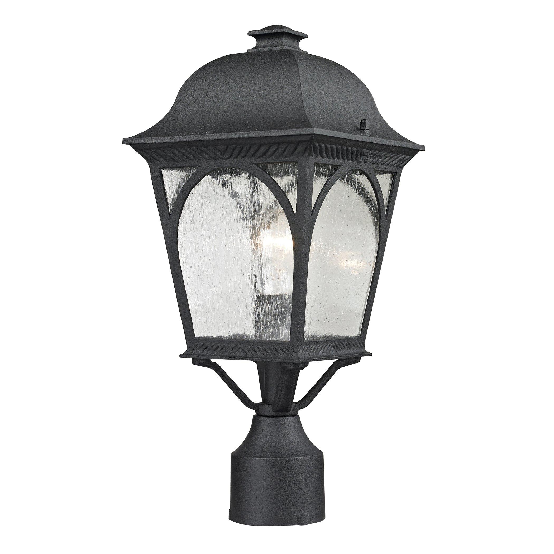 Cornerstone Lighting 8301EP/65 Cape Ann 1 Light Outdoor Pendant Lantern, Matte Textured Black