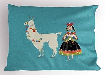 Amazon.com: Ambesonne Funda de almohada verde lima, rayas ...
