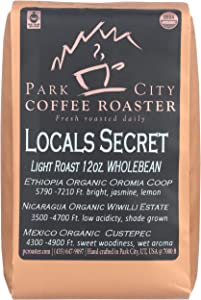 Park City Coffee Roaster, Coffee Locals Secret Blend Whole Bean, 12 Ounce
