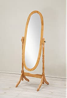 Amazon.com: Simple Traditional Style Oval Solid Wood Cheval Standing ...