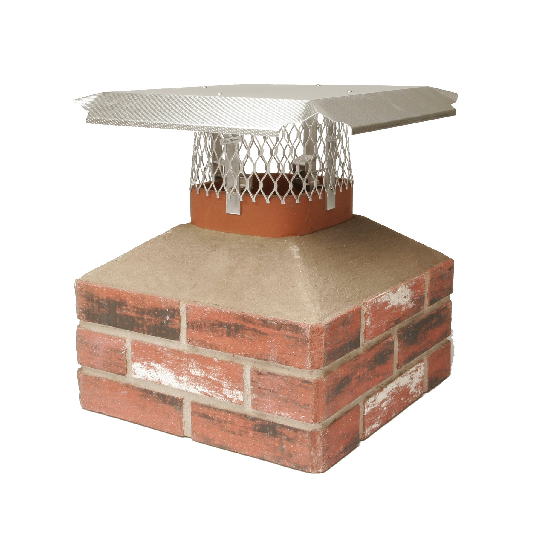 HY-C MF303 Duro Shield Single Flue Aluminum Multi-Fit Chimney Cap, Small by HY-C