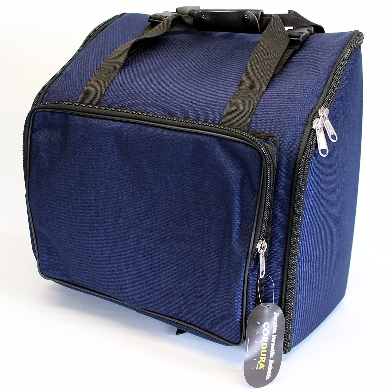 Steirische Harmonika Tasche Rucksack DELUXE-PRO Blau 4-reihig VMS