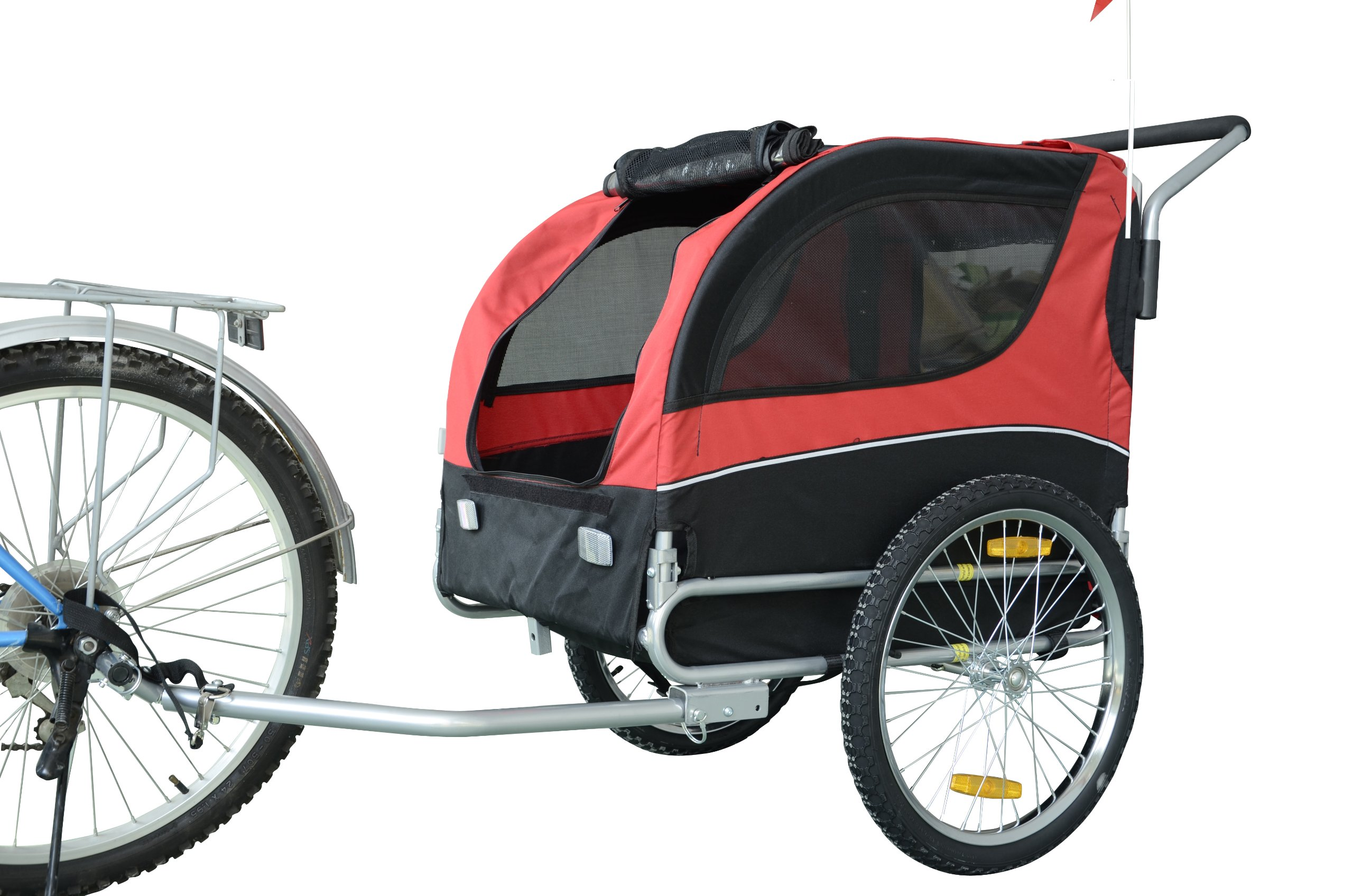 MDOG2 MK0065A Comfy Pet Bike Trailer, Red/Black
