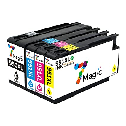950xl 951xl Cartuchos, 7Magic Cartucho de Tinta Compatible HP ...
