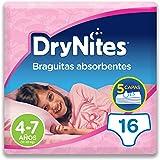 Dry Nites Braguitas Absorbentes para Niñas, 4-7 años - 16 pañales