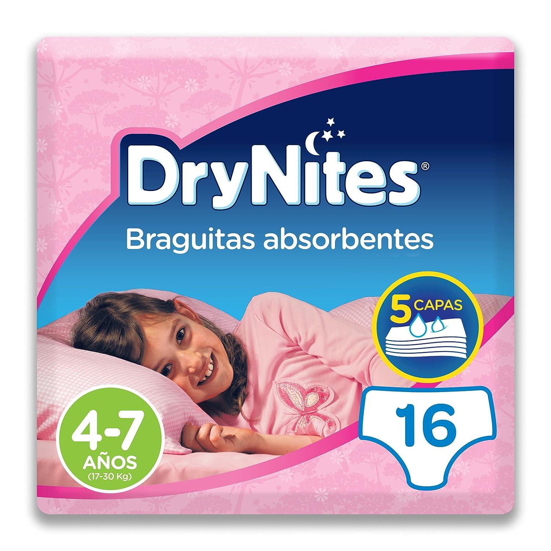Huggies DryNites Pyjama Pants Mä dchen 4– 7 Jahre (17– 30 kg) 16er, Schlupfhosen Kimberly-Clark GmbH 5029053527628