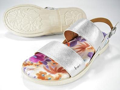 cf970a3258289 Born B.o.c Nina Silver Vegan Leather Sandals