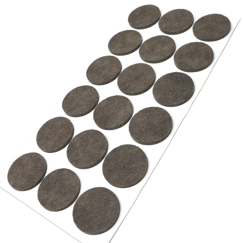 /Ø 14 mm marr/ón redondo auto-adhesivos Protectores de suelo para patas de mueble Adsamm/® con grosor de 3,5 mm de la m/áxima calidad 300 x almohadillas de fieltro