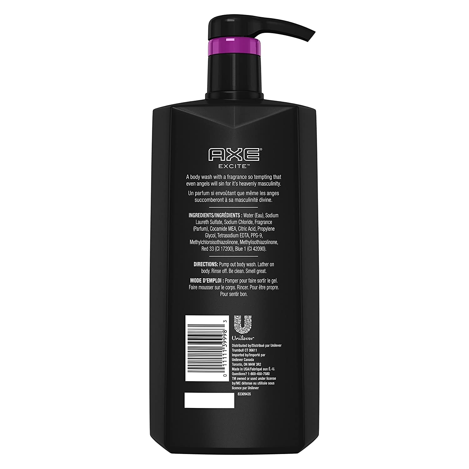 AXE Body Wash for Men, Excite, 28 oz with Pump