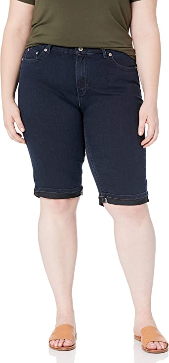 DENIM WOMENS 5-POCKET STRETCHY BERMUDA SHORTS