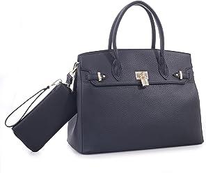 ef2889ab4edf22 Elena Satchel Handbag with Matching Wallet Set