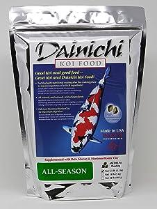 Dainichi Koi Food, All-Season, Medium Floating (5.5 mm) Pellet, 5.5 Lb