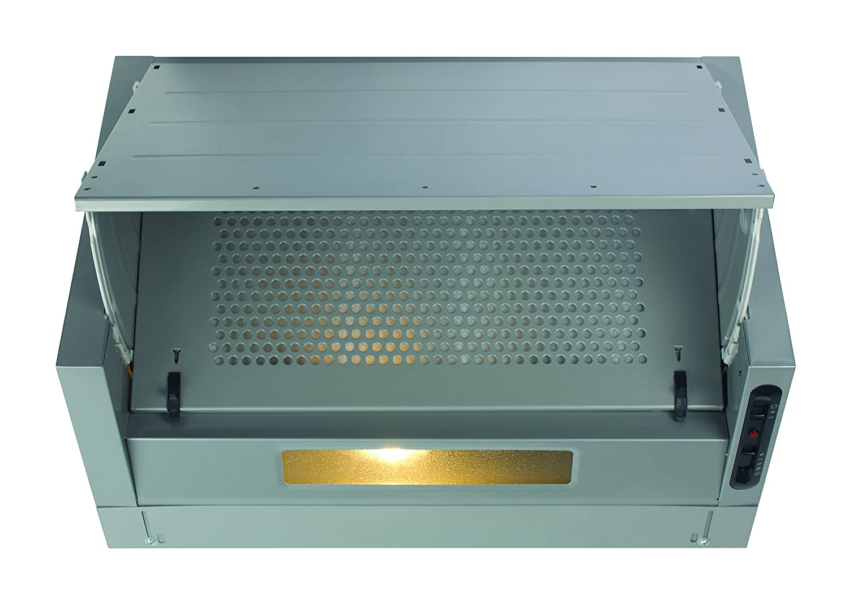 CDA EIN60FSI Integrated Cooker Hood Silver