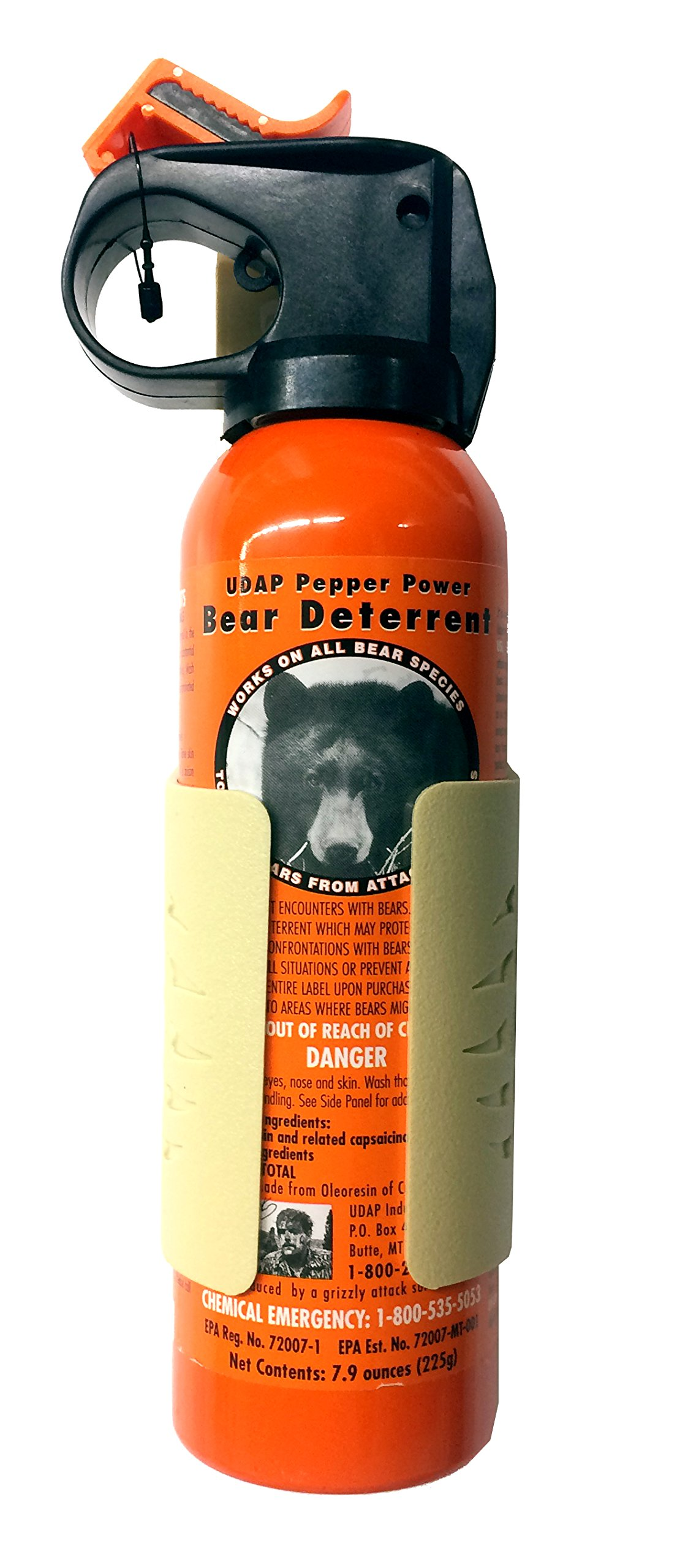 Udap Bear Spray Safety Orange with Griz Guard Holster (Sand) by Udap (Image #2)