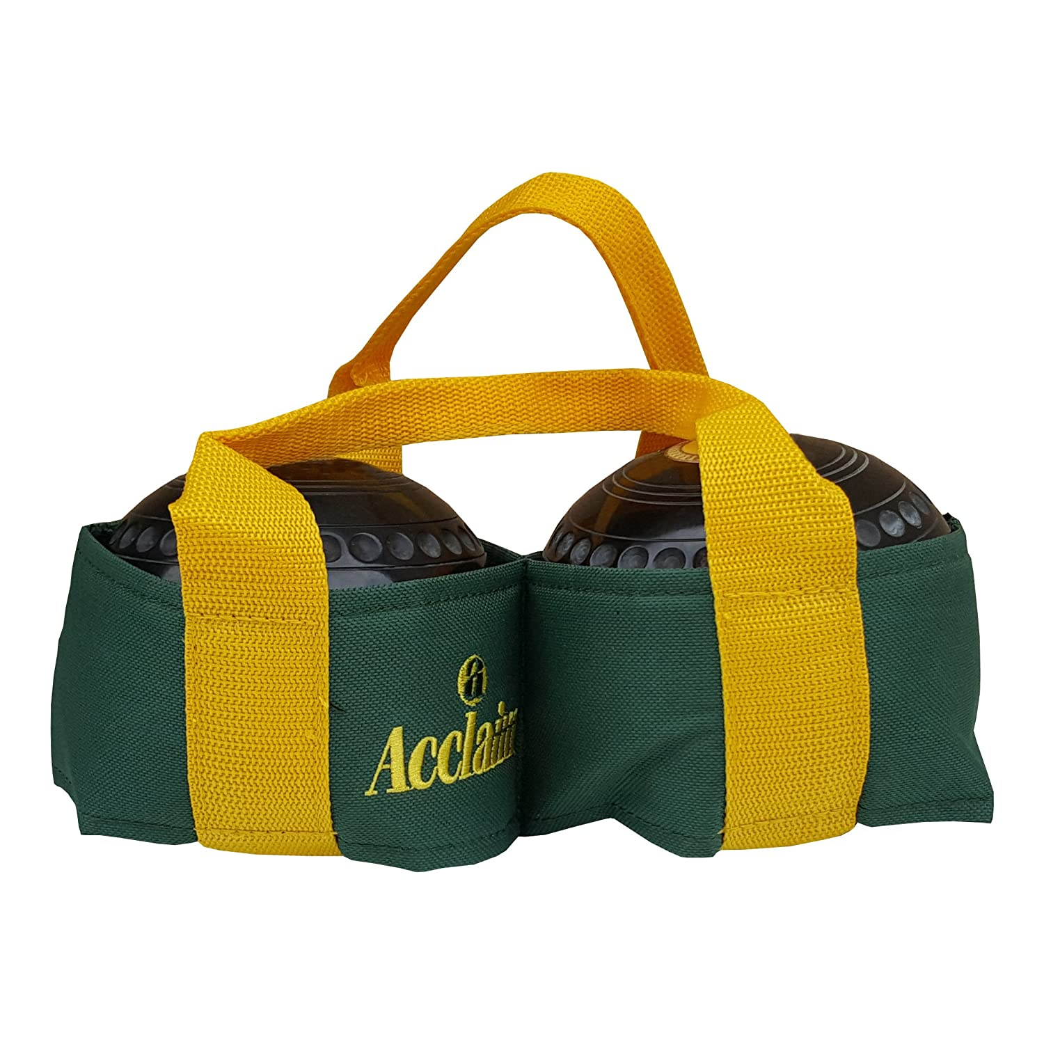 Acclaim Chatton Nylon Two Bowl Level Lawn Flat Green Short Mat Indoor Outdoor Bowls Carrier Bottle//Yellow