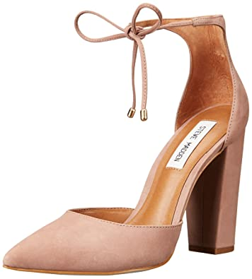 Steve Madden Carolynn Tan Suede Leather Lace-Up Lucite Sandals 1