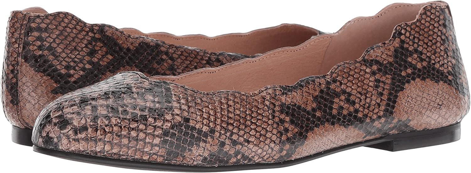 French Sole FS/NY Women's Jigsaw Ballet Flat B07CB497QX 11 M US|Taupe Snake