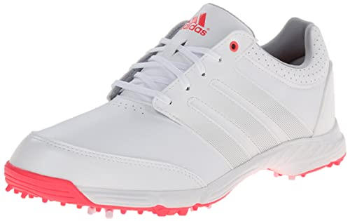 adidas Women's W Response Light Golf Shoe, Running White/Silver  Metallic/Flash Red