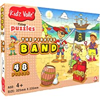 Kidz Valle The Pirates Band 48 Pieces Tiling Puzzles (Jigsaw Puzzles, Puzzles for Kids, Floor Puzzles), Puzzles for Kids Age 4 Years and Above. Size: 32.5 cm x 23.5 cm