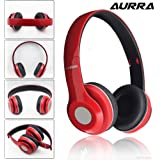 Aurra Extra Bass Bluetooth Headphone with SD card support/ FM Radio and Aux Support For Android / iOS &Windows Devices