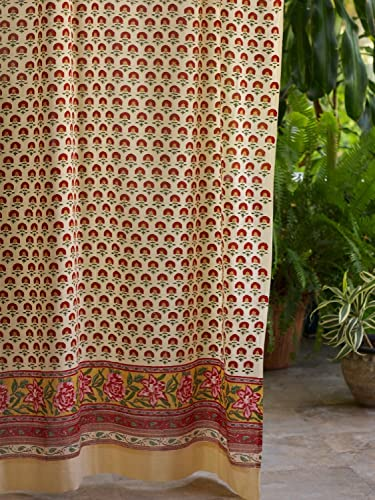 Tropical Garden CP Country Cottage Colorful Curtain Panel 46×63