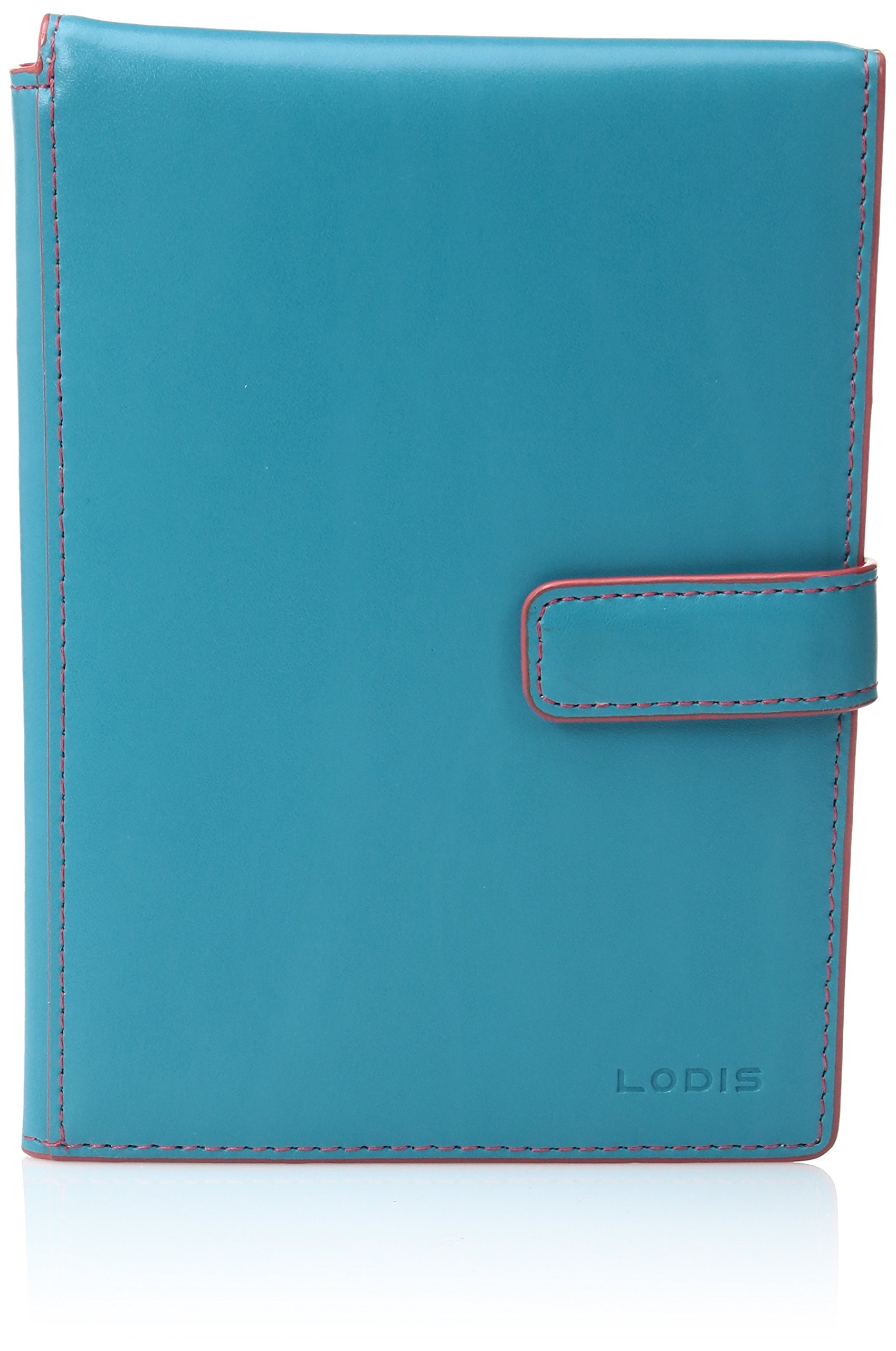 Audrey Pportwltwtktflp Tsc Pass Case, Turquoise/Coral, One Size by Lodis