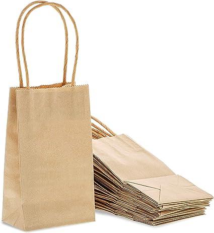 Amazon.com: Small Kraft Paper Gift Bags