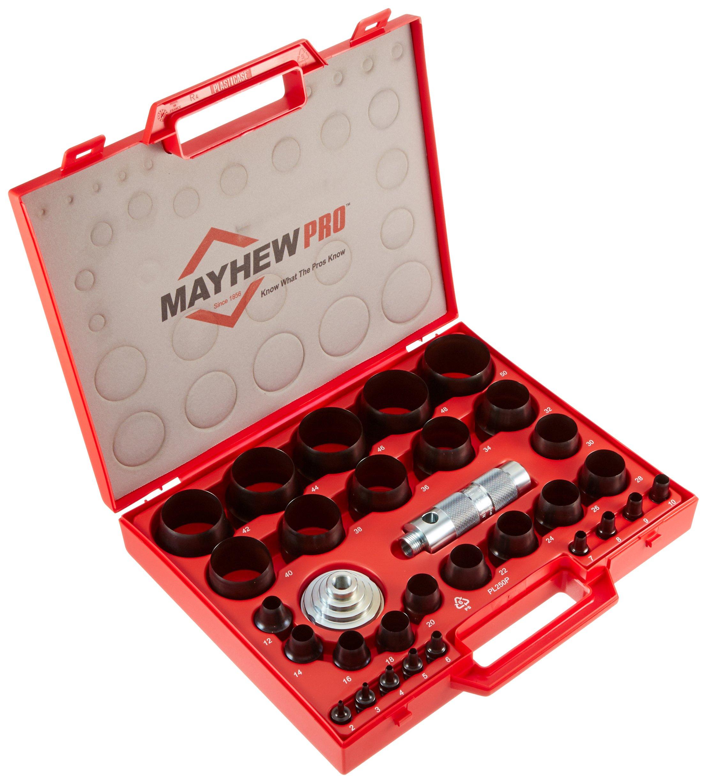 Mayhew Pro 66006 3 mm to 50 mm Metric Hollow Punch Set by Mayhew
