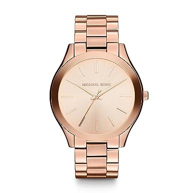 130719e8e4806 Michael Kors Ladies Mini Slim Runway Rose Gold Plated Bracelet Watch  MK3513  Michael Kors  Amazon.co.uk  Watches