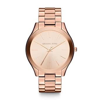 da9cb472d71e Amazon.com  Michael Kors Women s Runway Rose Gold-Tone Watch MK3197 ...