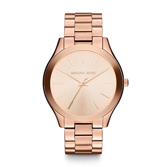 Michael Kors Womens Runway MK3513 Rose Gold Stainless-Steel Quartz Fashion Watch