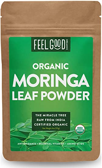 Amazon.com : Organic Moringa Leaf Powder - 4oz Resealable Bag - 100 ...