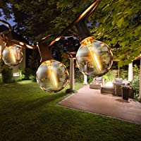 ROVLAK Led-lichtsnoer voor buiten, 9,5 m, globe lampen, lichtketting voor tuin, met 25 + 3 gloeilampen voor feestjes…