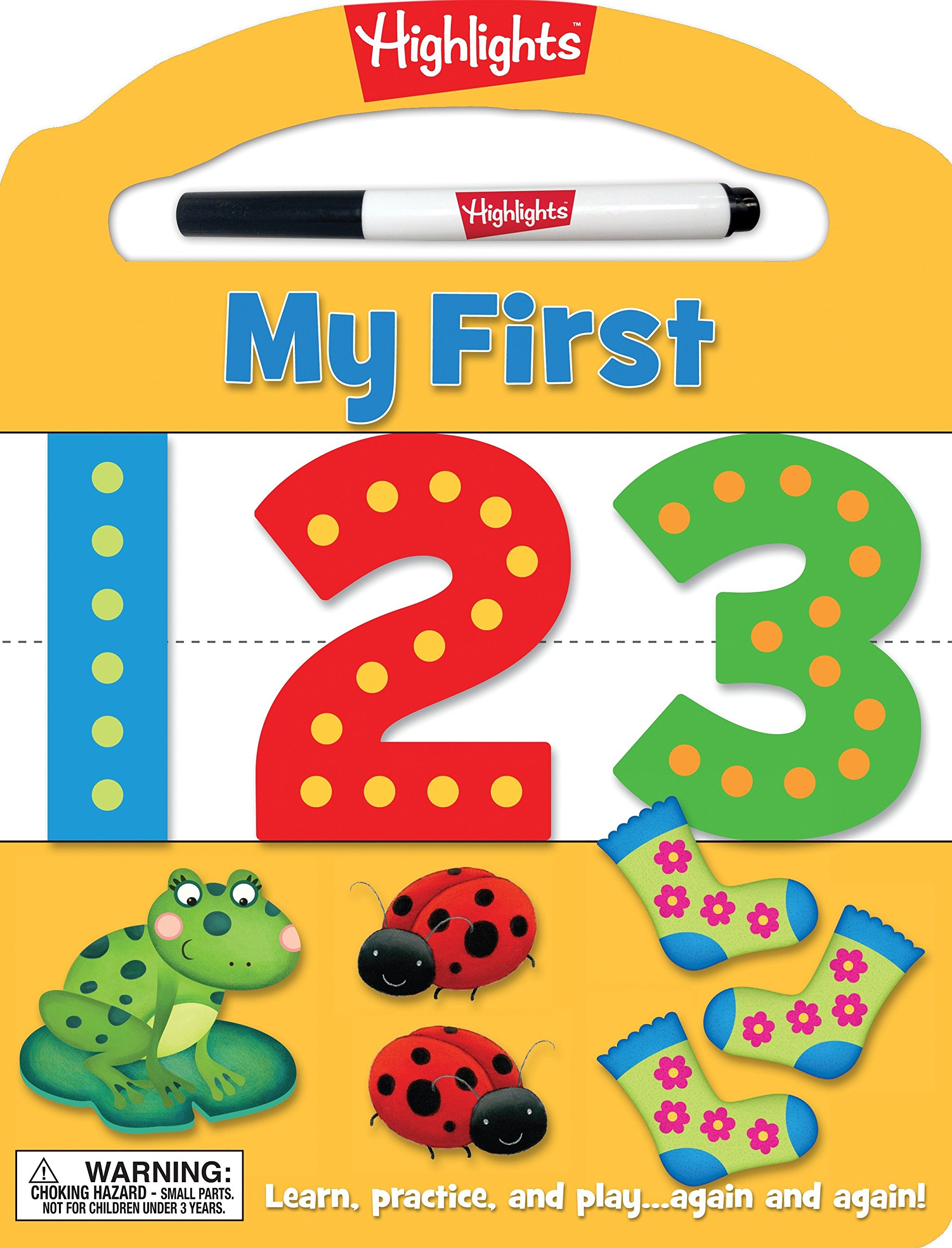 My First 123: Learn, practice, and play again and again! (Highlights™ My First Write-On Wipe-Off Board Books) PDF