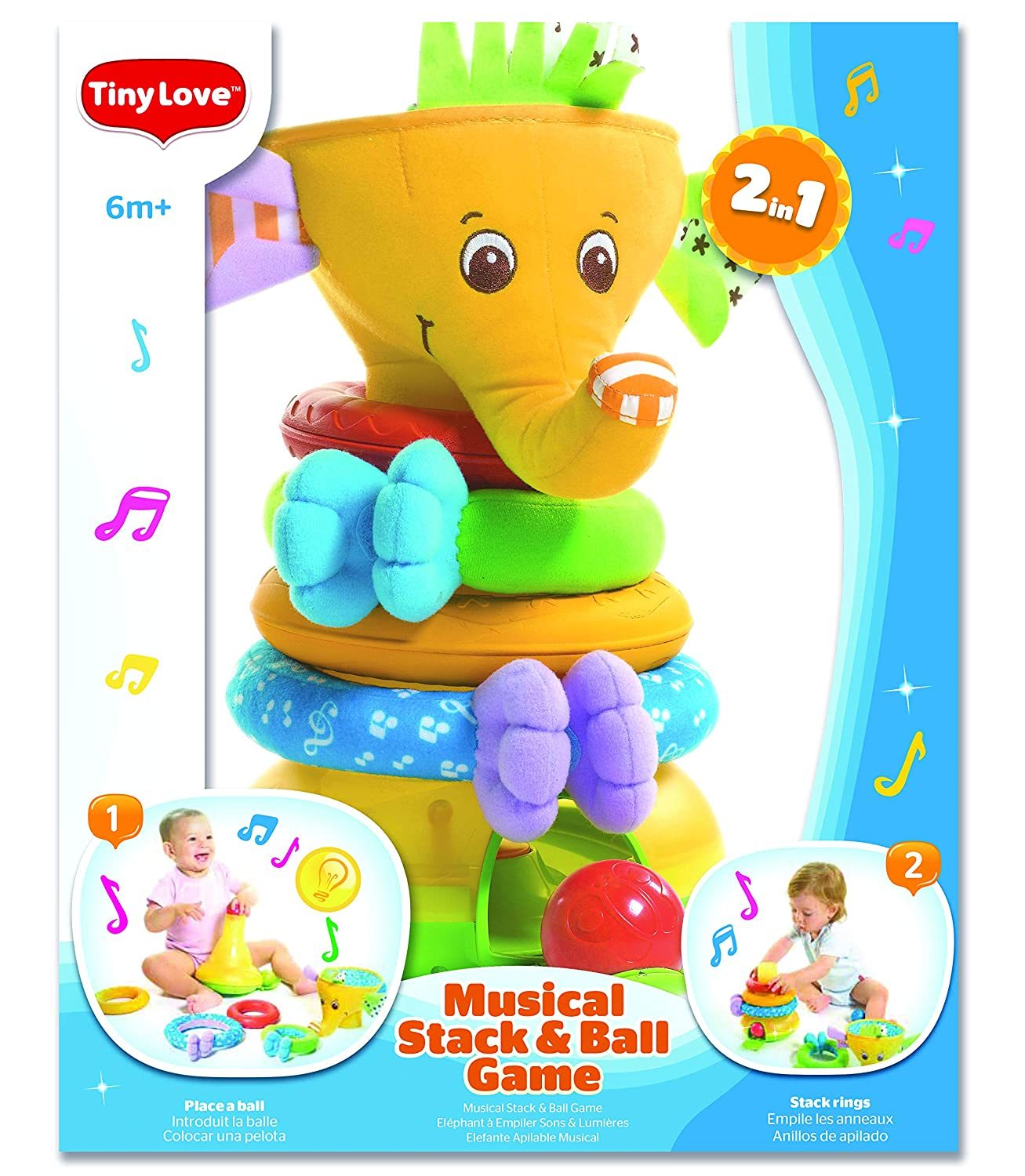 Tiny Love Musical Stack /& Ball Game Elephant