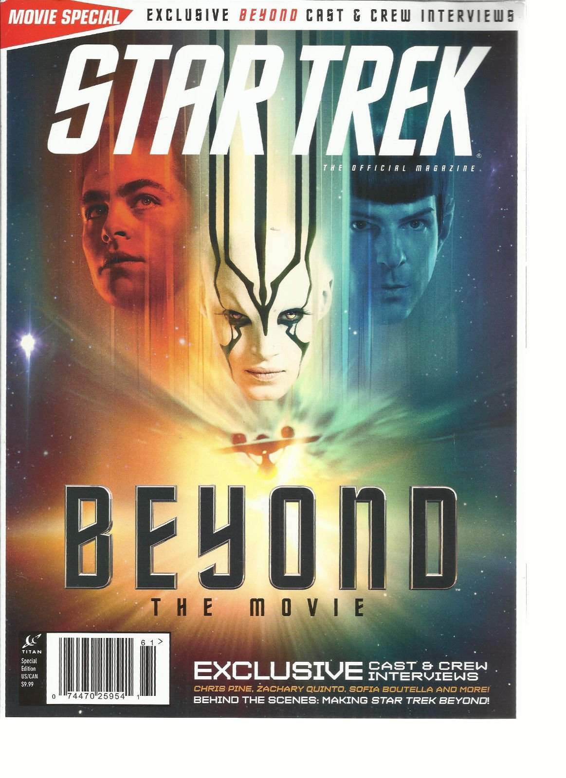 STAR TREK, THE OFFICIAL SPECIAL MAGAZINE BEYOND THE MOVIE SPECIAL EDITION,2016
