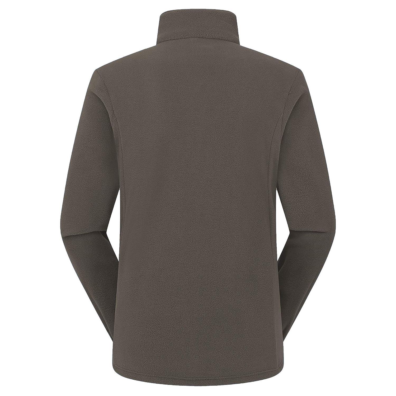 Mens Full Zip Fleece Jacket Soft Thermal Polartec for Mountain Camping Hiking Trekking